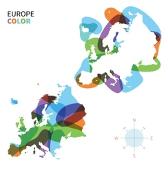 Abstract color map of Europe vector image