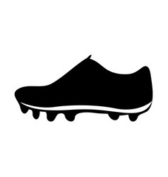 black silhouette sneakers sport shoes vector image