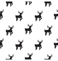 Deer black and white kid scandinavian pattern vector image vector image