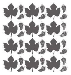 grape leaves seamless pattern design vector image vector image
