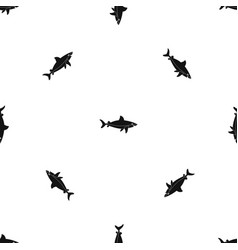 shark fish pattern seamless black vector image