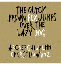 alphabet marker black hand drawn vector image