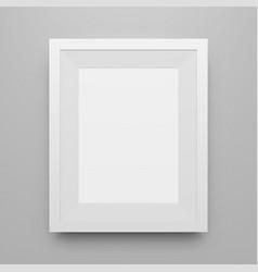 blank white poster frame mockup vector image vector image