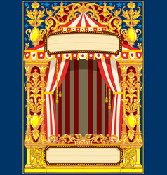 carnival poster template vector image
