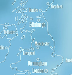Creative Great Britain map and Ireland vector image