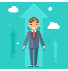 Experienced Professional Manager Businessman vector image
