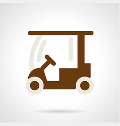 golf course car flat color icon vector image