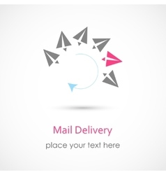 Mail Delivery Icon vector image vector image