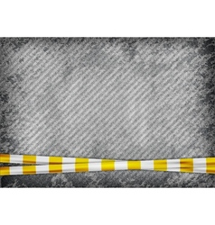 texture grain grey with yellow tape vector image vector image