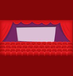 cinema movie horizontal banner hall cartoon style vector image