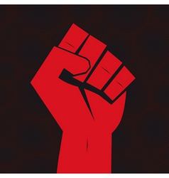Clenched fist hand vector