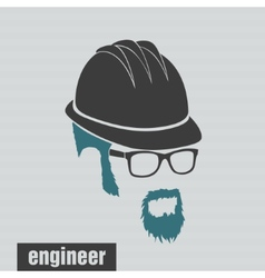 icons engineer hairstyles beard and mustache vector image