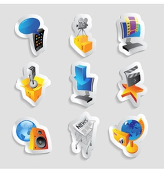 Icons for media vector image vector image