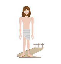 jesus christ stripped robes - via crucis vector image