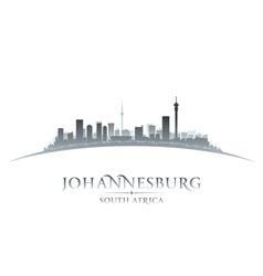 Johannesburg South Africa city skyline silhouette vector image vector image