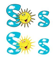 letter S sun vector image