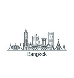 Outline Bangkok banner vector image