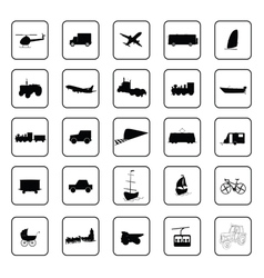 transport icon black vector image vector image