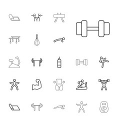 22 gym icons vector