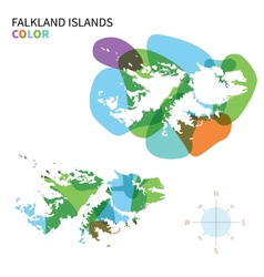 Abstract color map of Falkland Islands vector image
