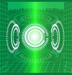 Abstract digital technology green background vector