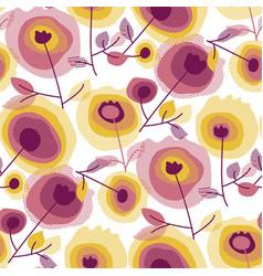 abstract flourishing garden seamless pattern vector image