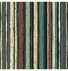 Abstract retro pattern Seamless hand-drawn lines vector image