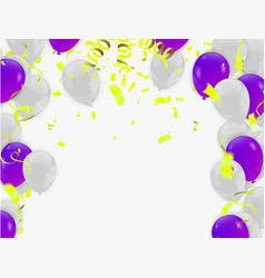 abstract shining party background with confetti vector image