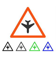 airplane warning flat icon vector image
