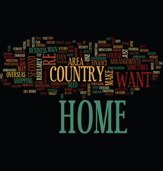 At home in your overseas home text background vector