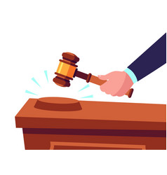 auctioneer hold gavel in hand and selling goods vector image