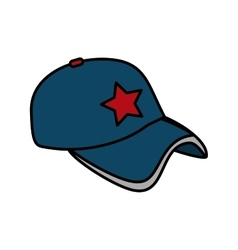 baseball cap uniform isolated icon vector image