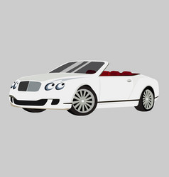 Bentley continental gt icon on a grey vector