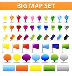 Big Map Set vector image