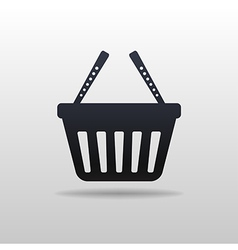 Black icon of Shopping cart vector image
