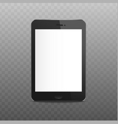 black isolated tablet mockup with blank white vector image