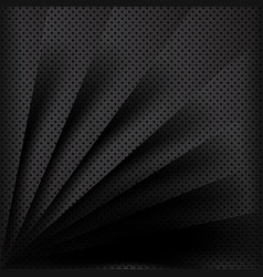 Black metal background overlap multi paper vector