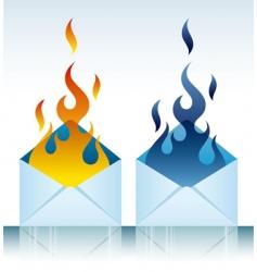 Burning envelope vector
