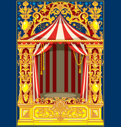 Carnival poster vintage circus theme vector