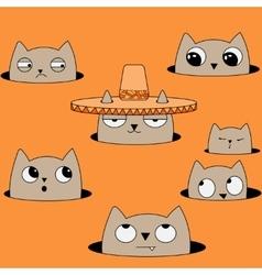 cat in Sobrero vector image