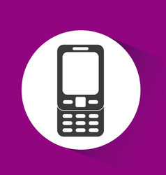 Cellphone device icon vector