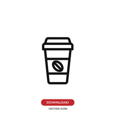 coffee paper cup icon vector image