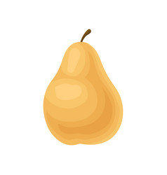colorful flat icon of tasty pear fresh and vector image