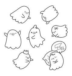 coloring book ghosts vector image