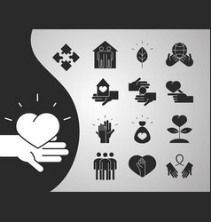 community together charity donation and love vector image