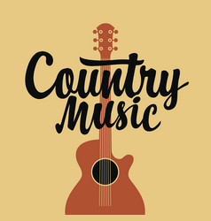 country music poster with an electric guitar vector image