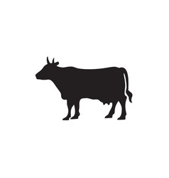 Cow icon in flat style icon domestic animals vector