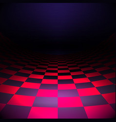 dark interior black and pink checkers tiles floor vector image