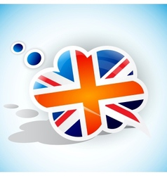 Flag of the United Kingdom Speech bubble vector image
