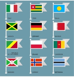 Flags set four-06 vector image